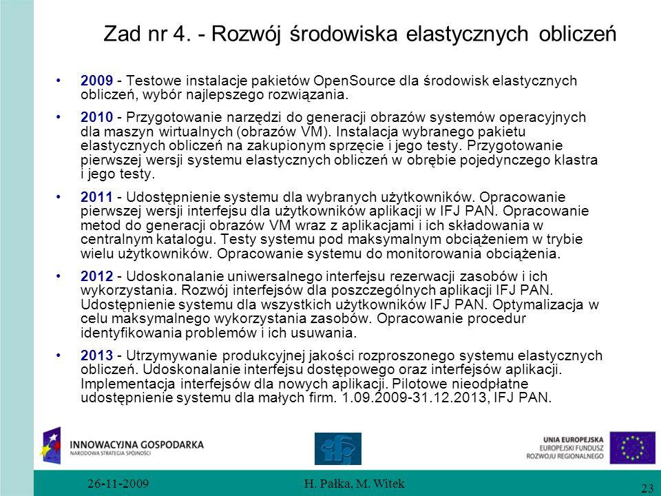 Zad nr 4. - Rozwój środowiska elastycznych obliczeń