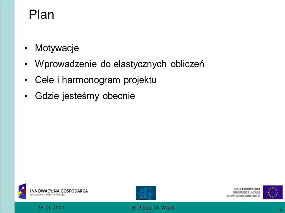 Plan Motywacje Wprowadzenie do elastycznych obliczeń