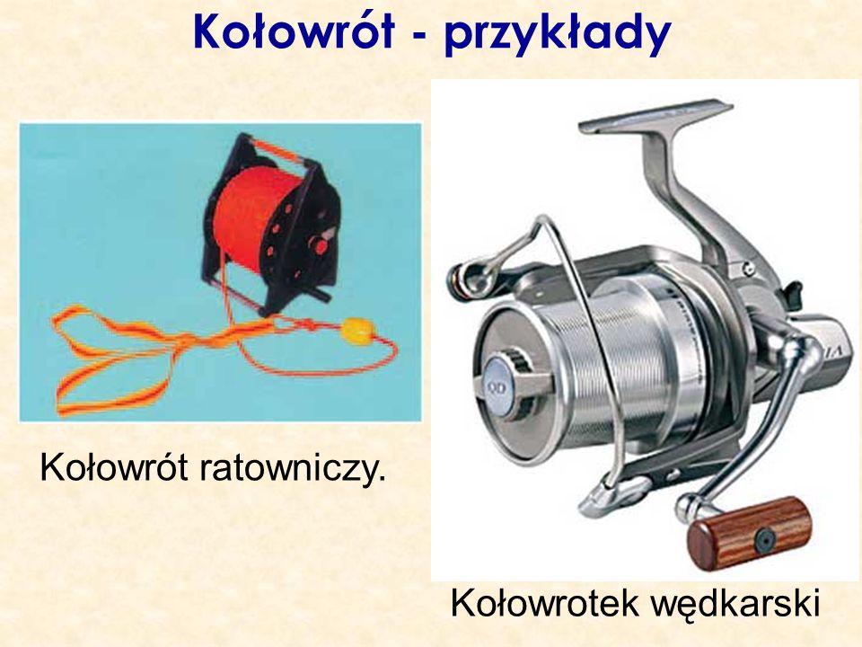 Kołowrót - przykłady Kołowrót ratowniczy. Kołowrotek wędkarski