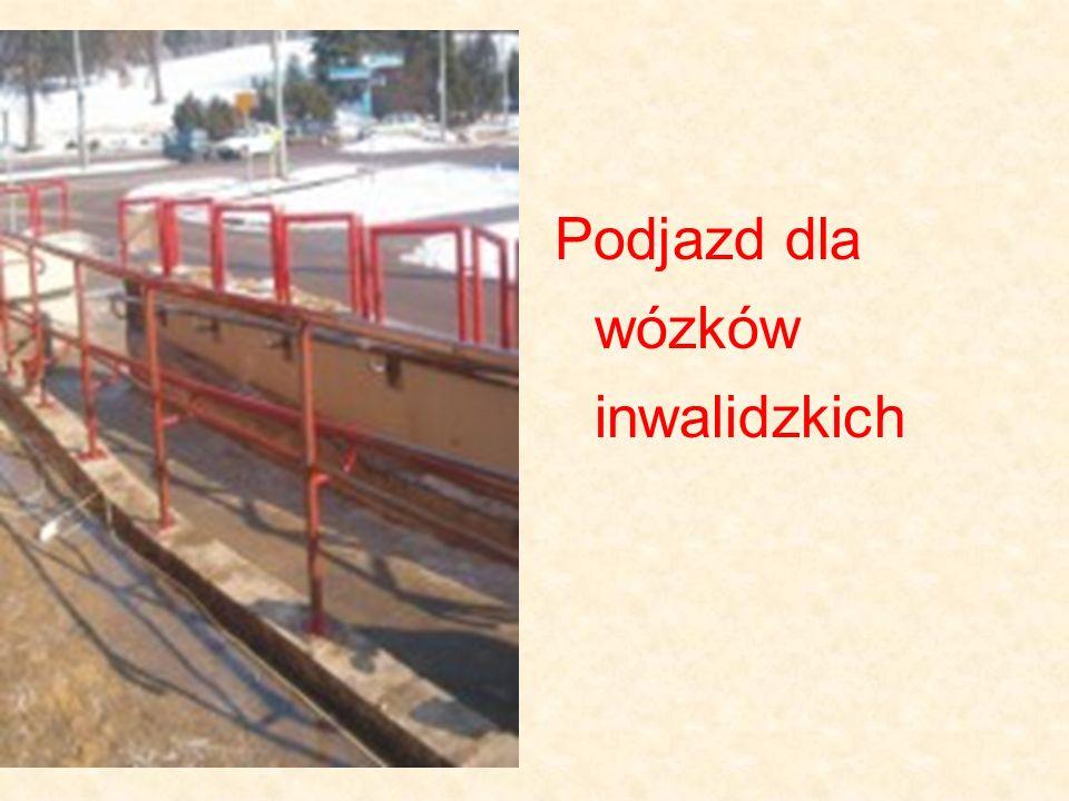 Podjazd dla wózków inwalidzkich