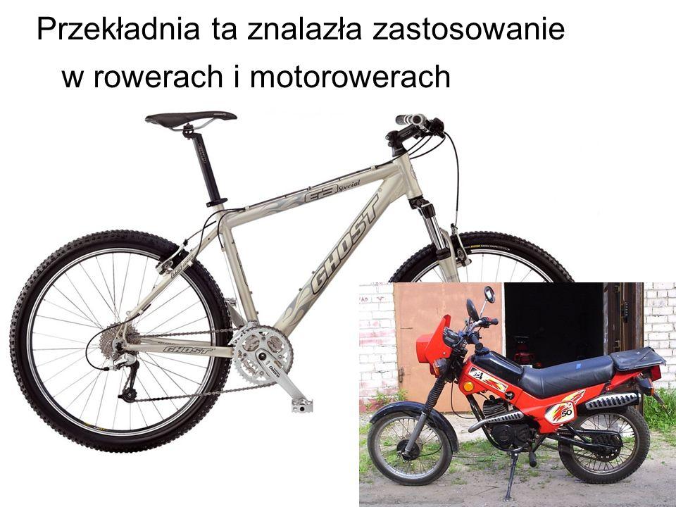 Przekładnia ta znalazła zastosowanie w rowerach i motorowerach