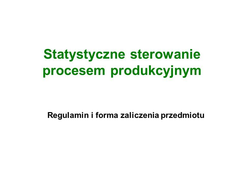 Statystyczne sterowanie procesem produkcyjnym