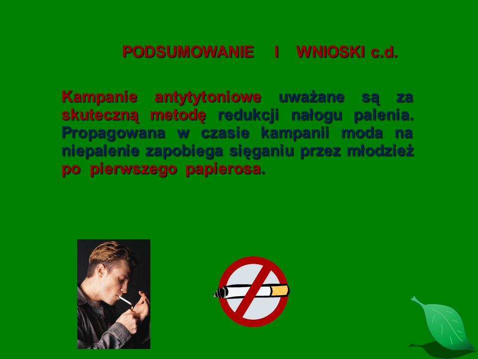 PODSUMOWANIE I WNIOSKI c.d.