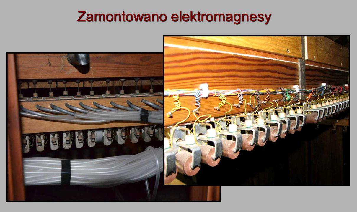 Zamontowano elektromagnesy