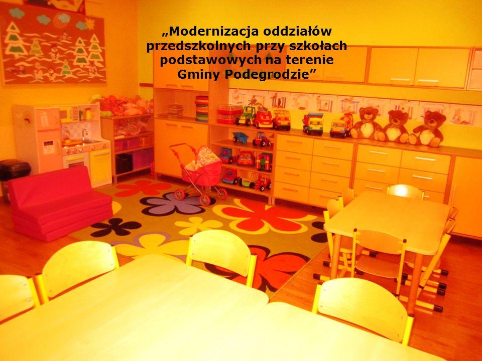 """""""Modernizacja oddziałów przedszkolnych przy szkołach podstawowych na terenie Gminy Podegrodzie"""