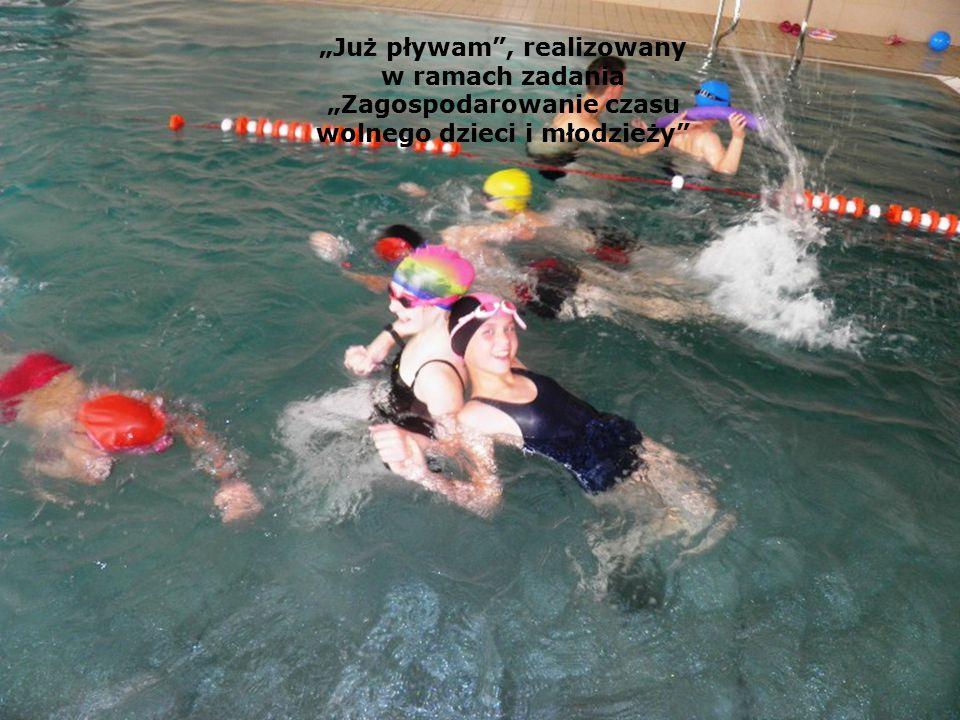 """""""Już pływam , realizowany w ramach zadania """"Zagospodarowanie czasu wolnego dzieci i młodzieży"""