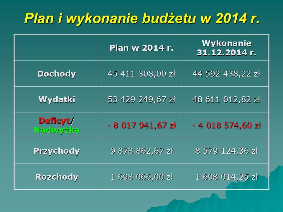 Plan i wykonanie budżetu w 2014 r.