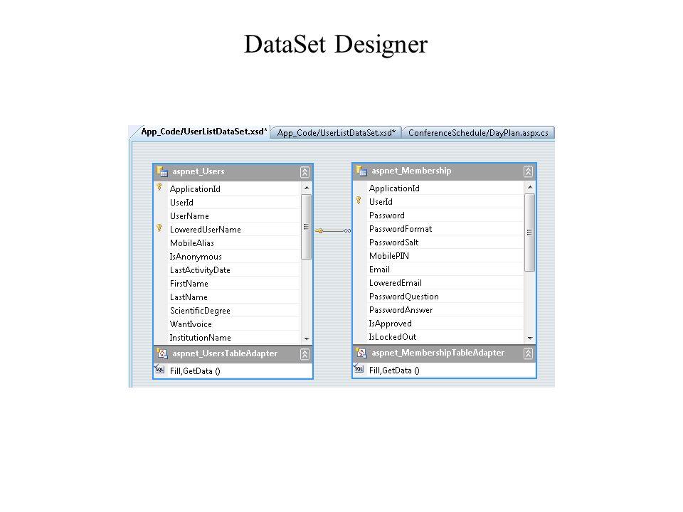 DataSet Designer