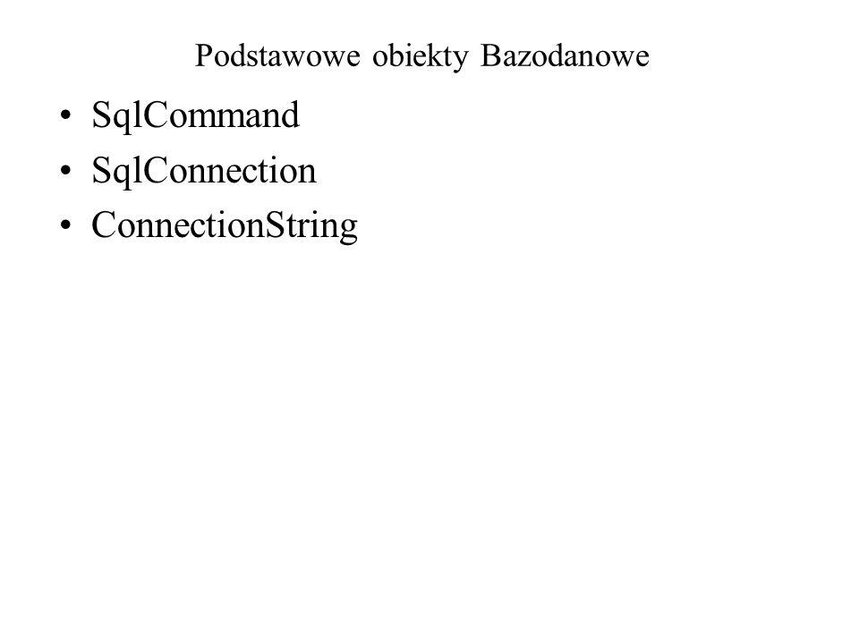 Podstawowe obiekty Bazodanowe
