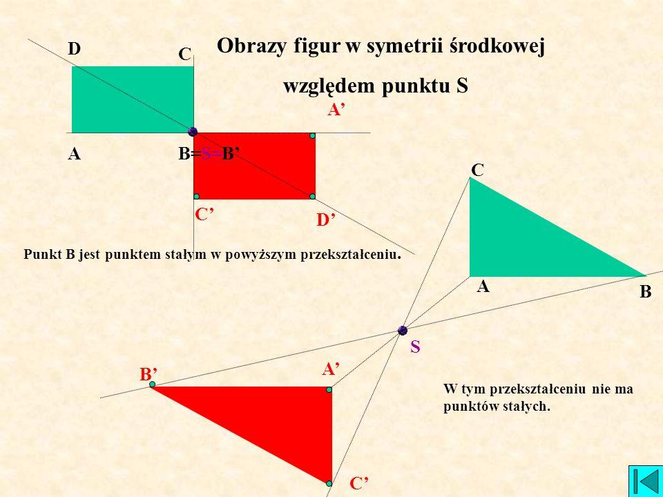 Obrazy figur w symetrii środkowej