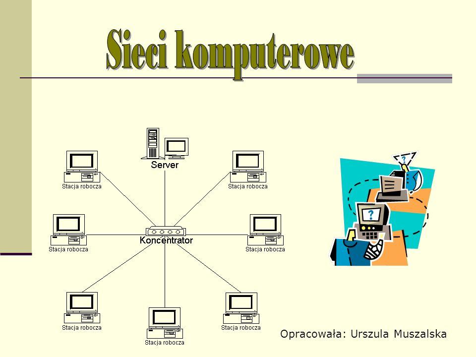 Sieci komputerowe Opracowała: Urszula Muszalska