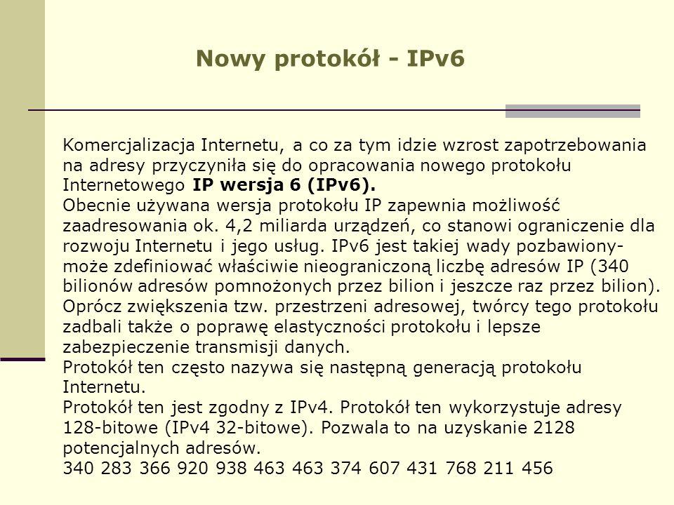 Nowy protokół - IPv6
