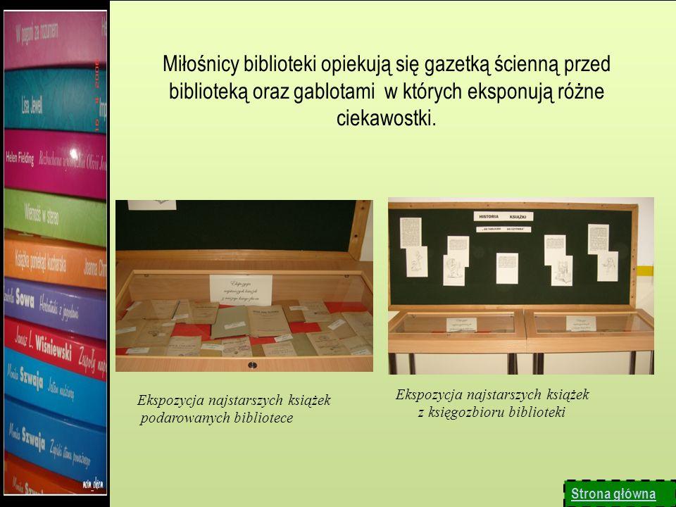 Ekspozycja najstarszych książek z księgozbioru biblioteki