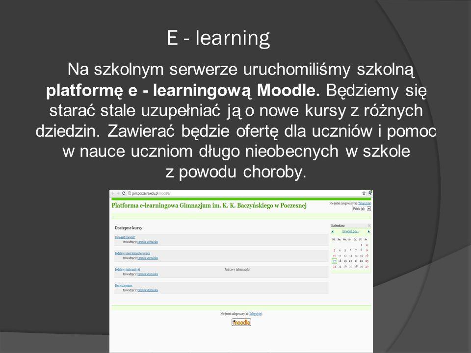 E - learning z powodu choroby.