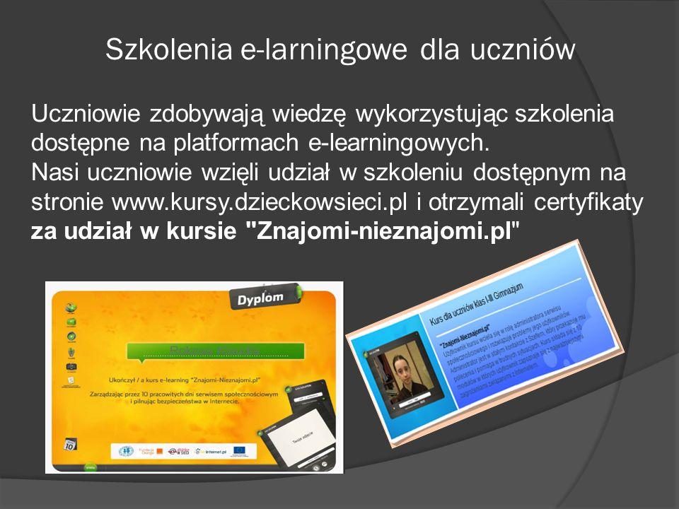 Szkolenia e-larningowe dla uczniów