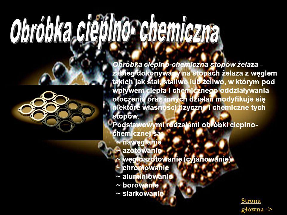 Obróbka cieplno- chemiczna