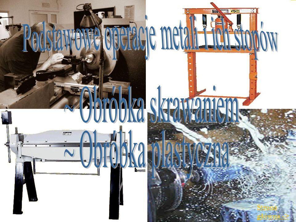 Podstawowe operacje metali i ich stopów