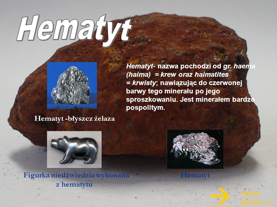  Hematyt Hematyt -błyszcz żelaza Figurka niedźwiedzia wykonana