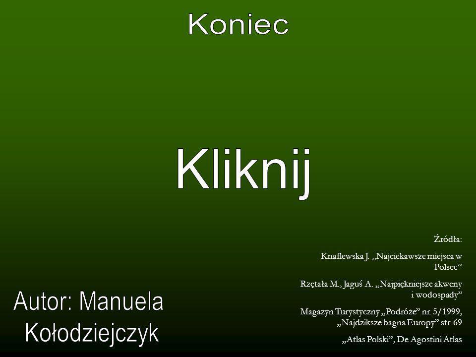 Koniec Kliknij Autor: Manuela Kołodziejczyk Źródła:
