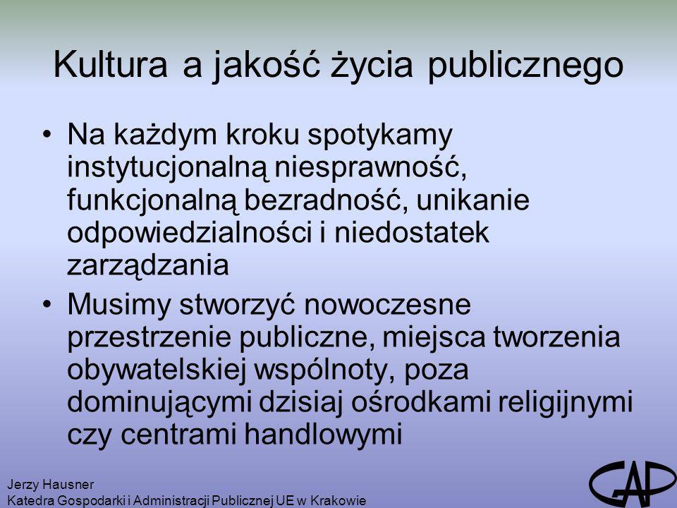 Kultura a jakość życia publicznego