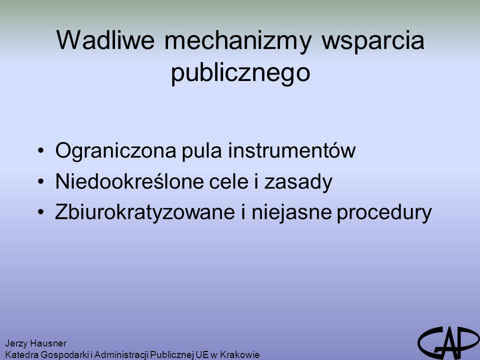 Wadliwe mechanizmy wsparcia publicznego