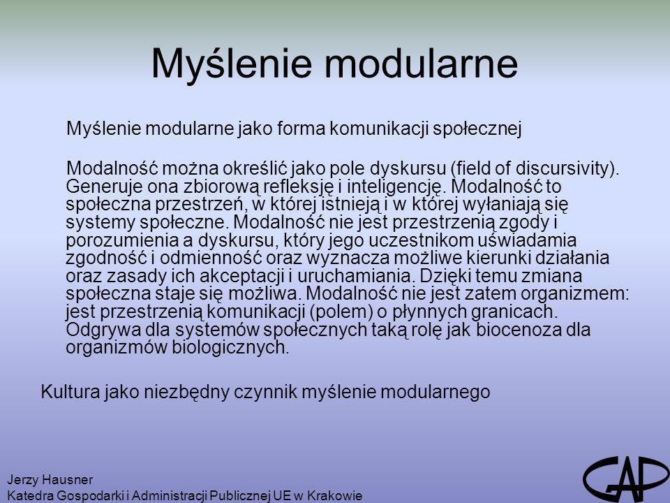 Myślenie modularne Myślenie modularne jako forma komunikacji społecznej.