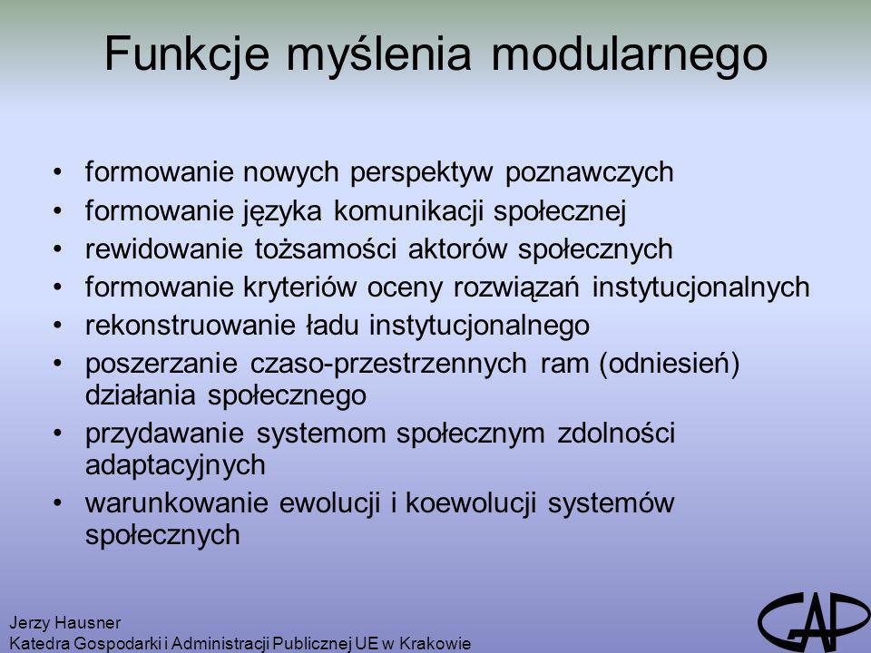 Funkcje myślenia modularnego