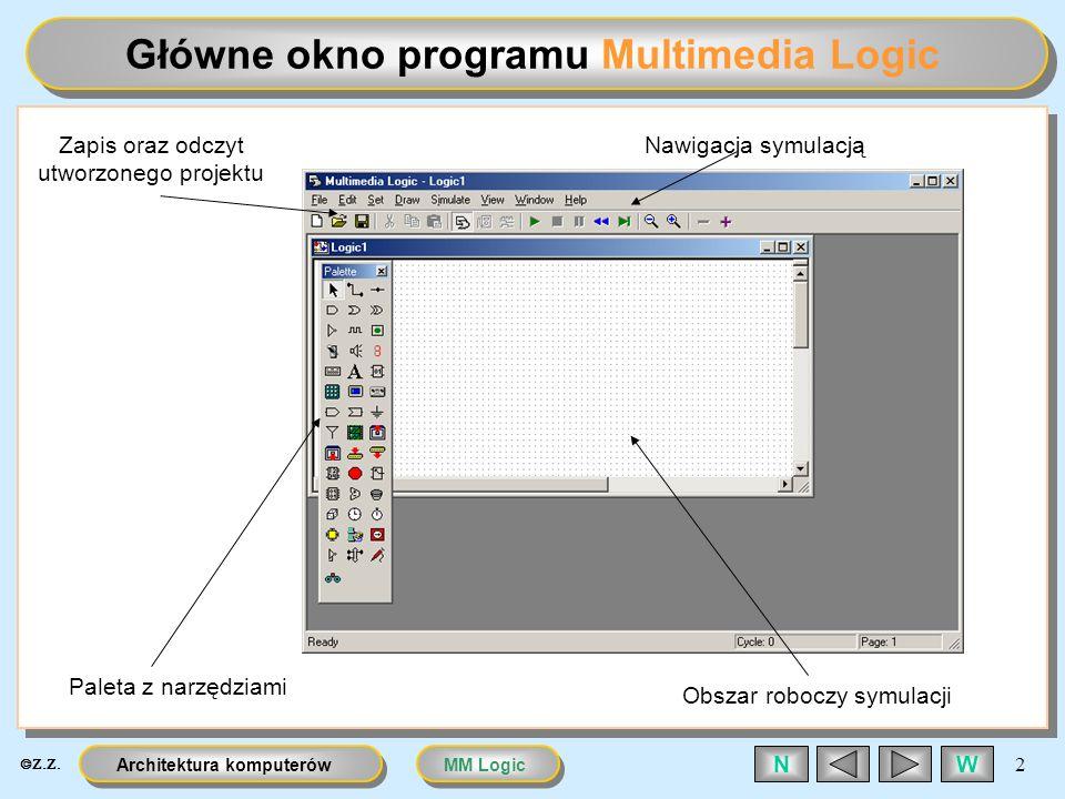 Główne okno programu Multimedia Logic