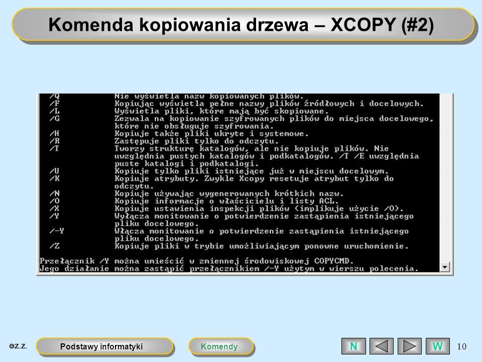 Komenda kopiowania drzewa – XCOPY (#2)