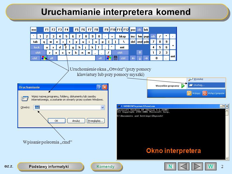 Uruchamianie interpretera komend