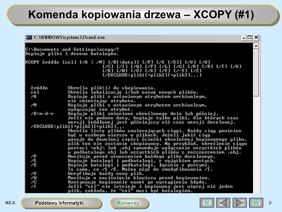 Komenda kopiowania drzewa – XCOPY (#1)