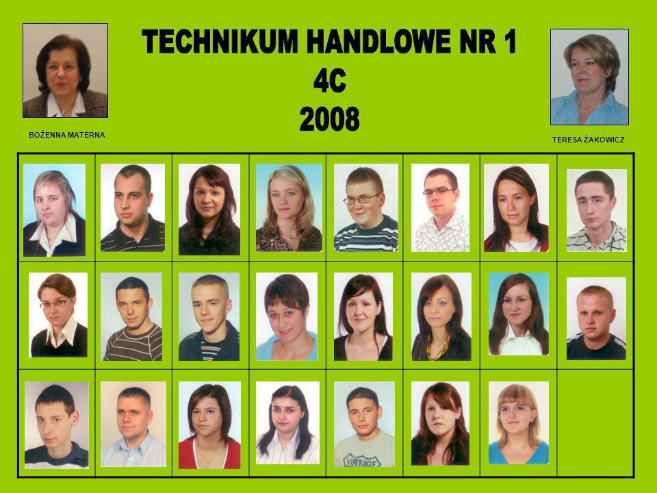 TECHNIKUM HANDLOWE NR 1 4C 2008 BOŻENNA MATERNA TERESA ŻAKOWICZ