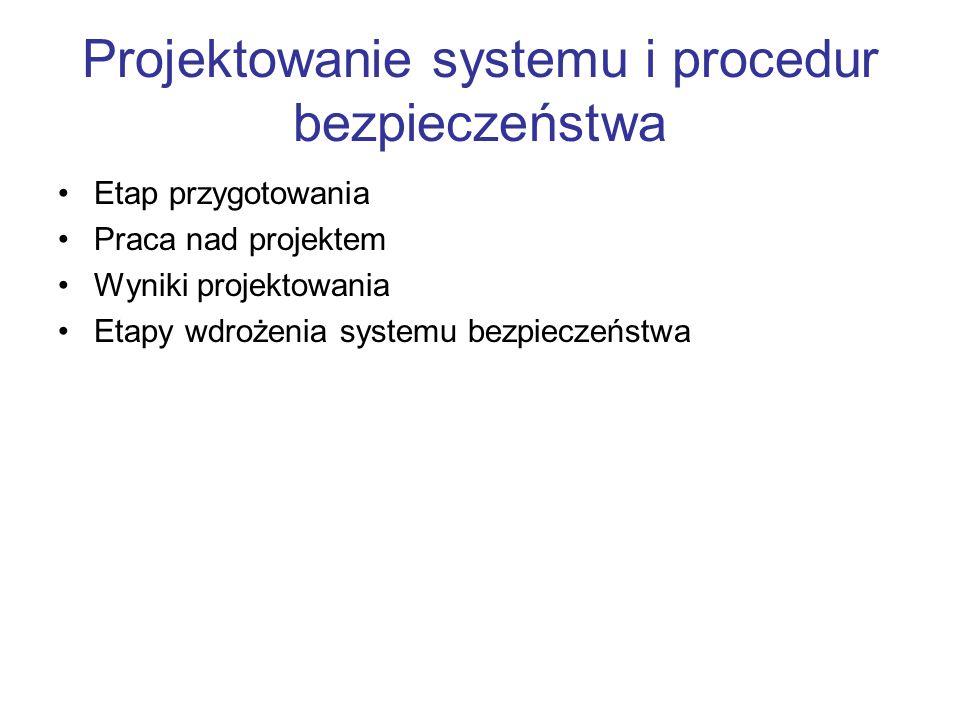 Projektowanie systemu i procedur bezpieczeństwa