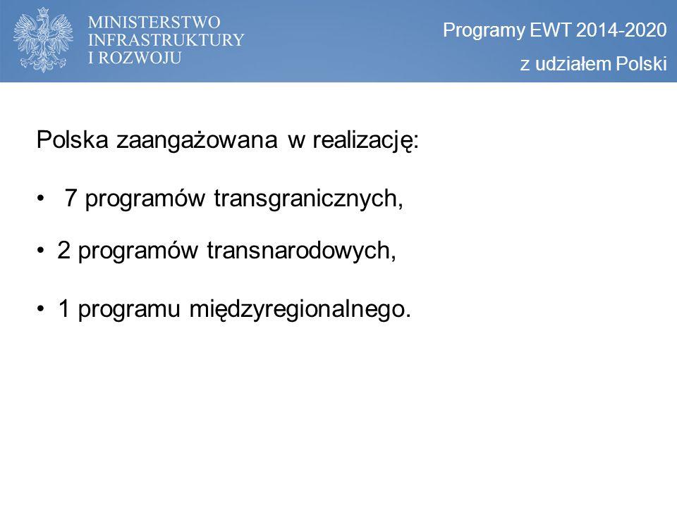 Polska zaangażowana w realizację: 7 programów transgranicznych,