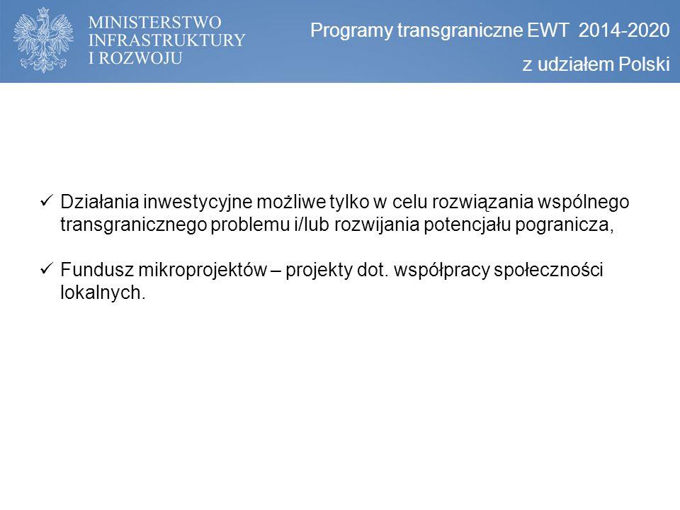 Programy transgraniczne EWT 2014-2020