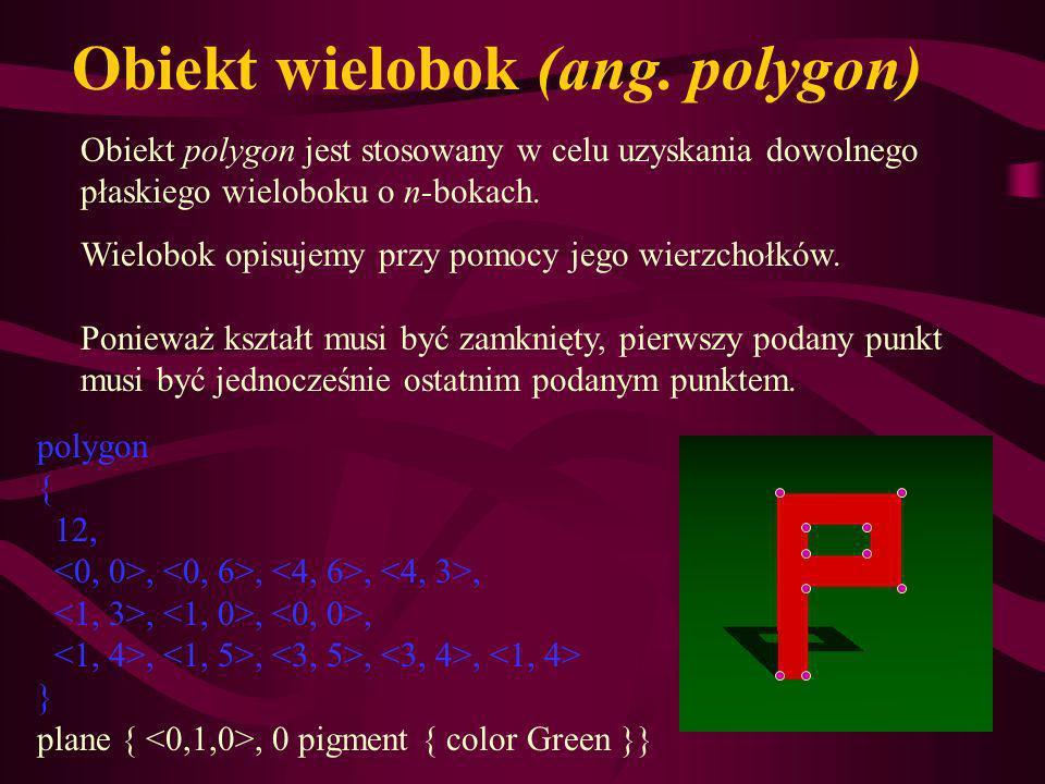 Obiekt wielobok (ang. polygon)