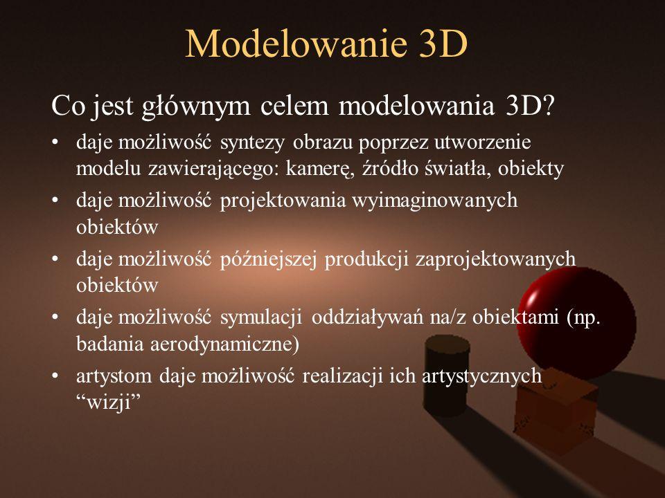 Modelowanie 3D Co jest głównym celem modelowania 3D