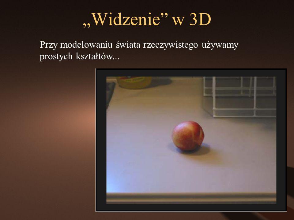 """""""Widzenie w 3D Przy modelowaniu świata rzeczywistego używamy prostych kształtów..."""