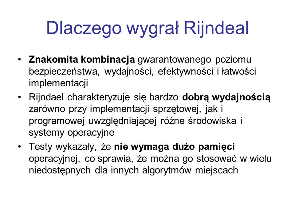 Dlaczego wygrał Rijndeal