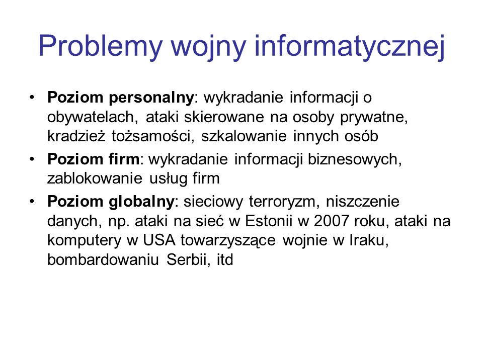 Problemy wojny informatycznej