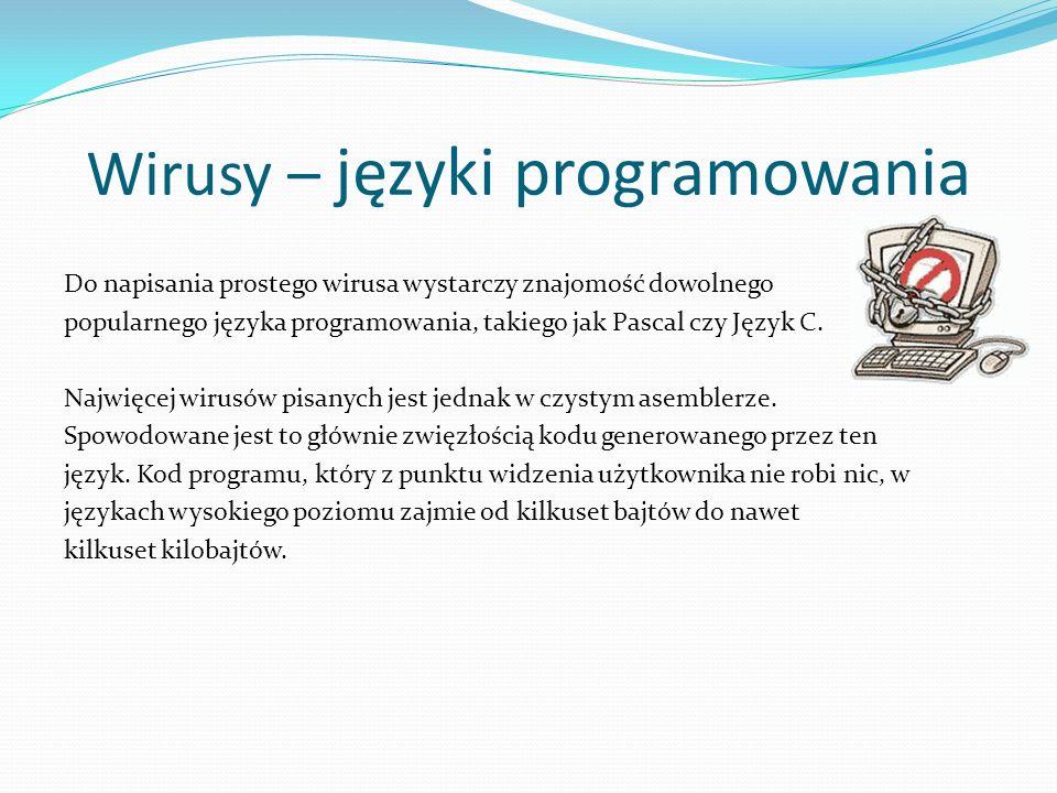 Wirusy – języki programowania