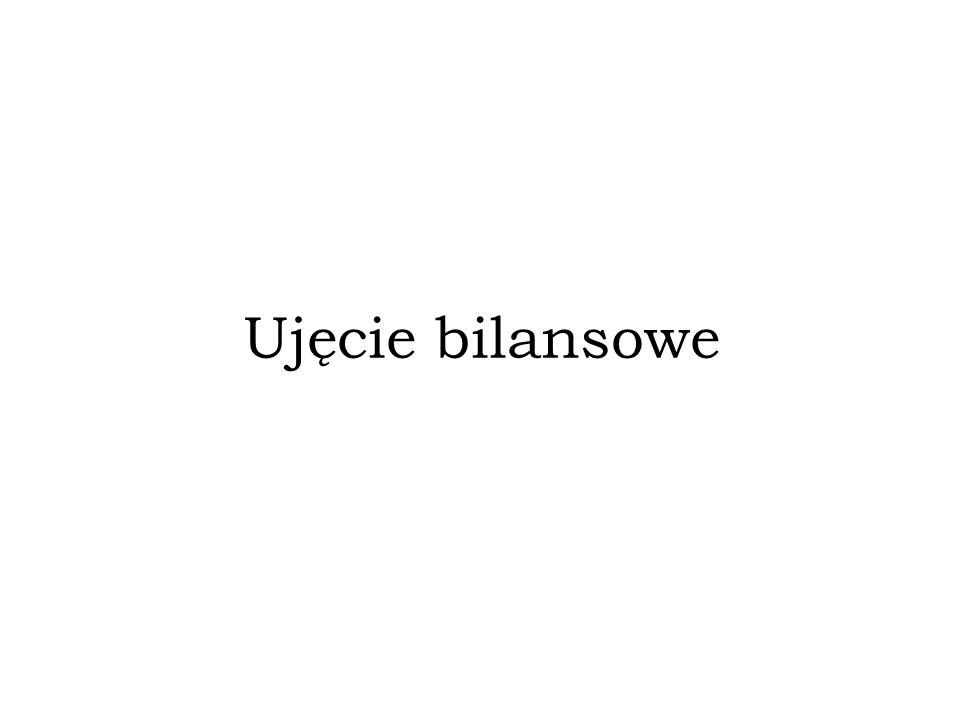 Ujęcie bilansowe