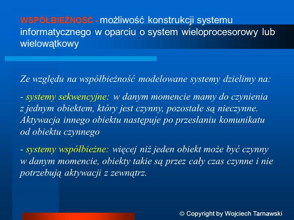 Ze względu na współbieżność modelowane systemy dzielimy na: