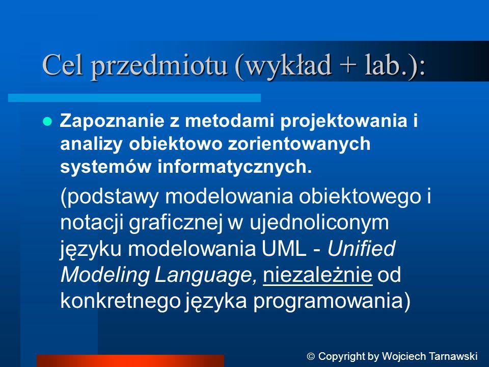 Cel przedmiotu (wykład + lab.):