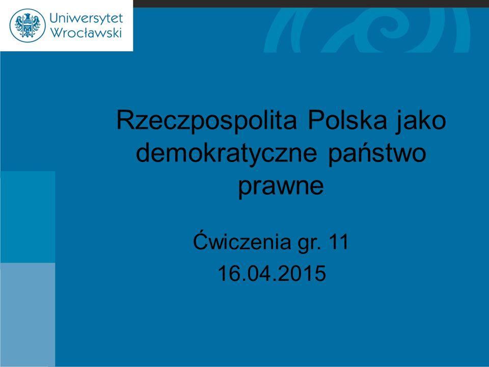 Rzeczpospolita Polska jako demokratyczne państwo prawne