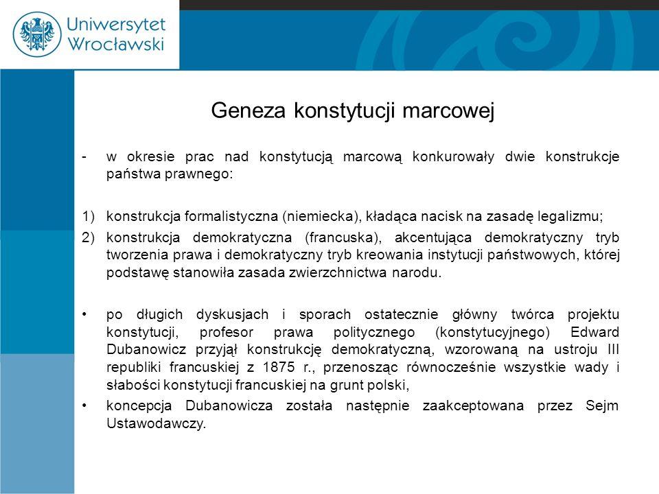 Geneza konstytucji marcowej
