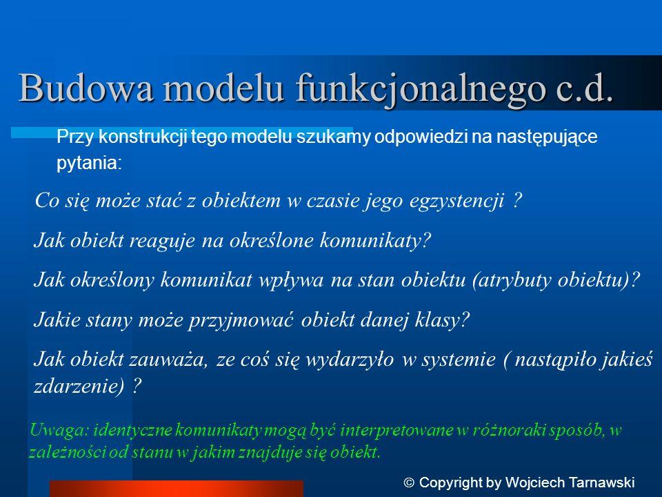 Budowa modelu funkcjonalnego c.d.
