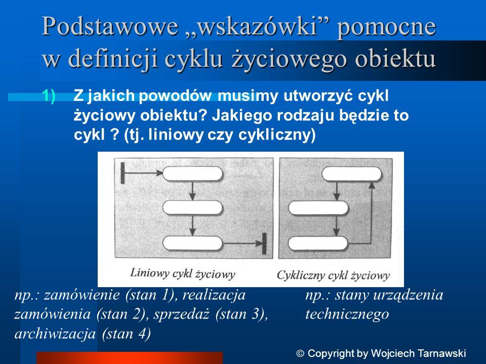 """Podstawowe """"wskazówki pomocne w definicji cyklu życiowego obiektu"""