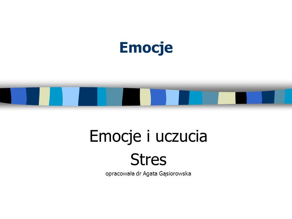 Emocje i uczucia Stres opracowała dr Agata Gąsiorowska