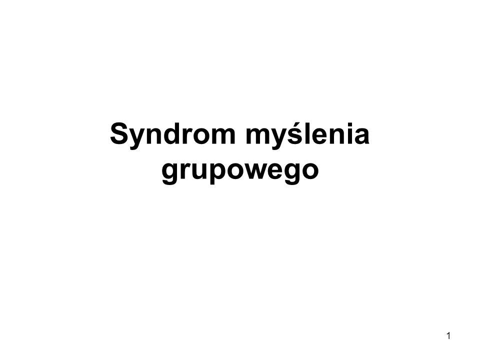 Syndrom myślenia grupowego